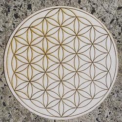 Flower of Life Laser Etched Mandala