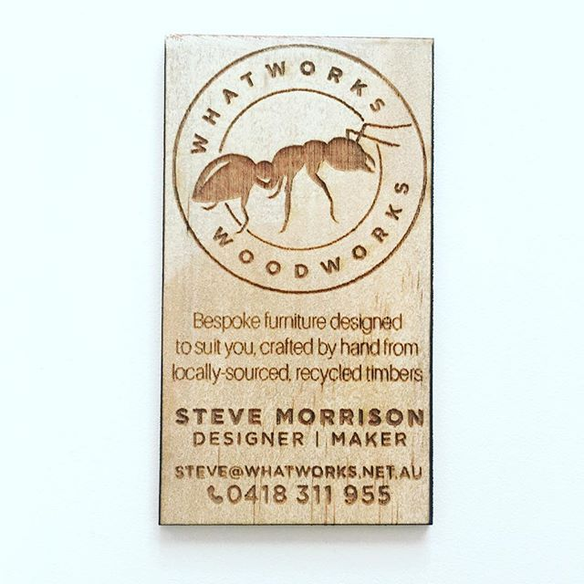 Custom Laser Etched Business Card