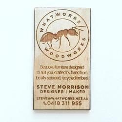 Custom Laser Etched Business Card