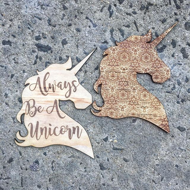 Laser etched Unicorn Wall Decor