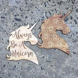 Laser etched Unicorn Wall Decor