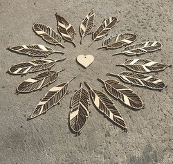 Laser Cut Feathers
