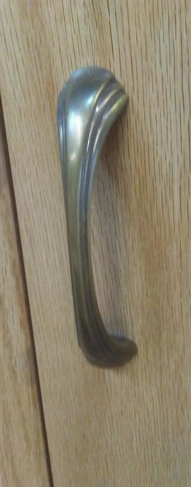 Custom Oak Armoire detail