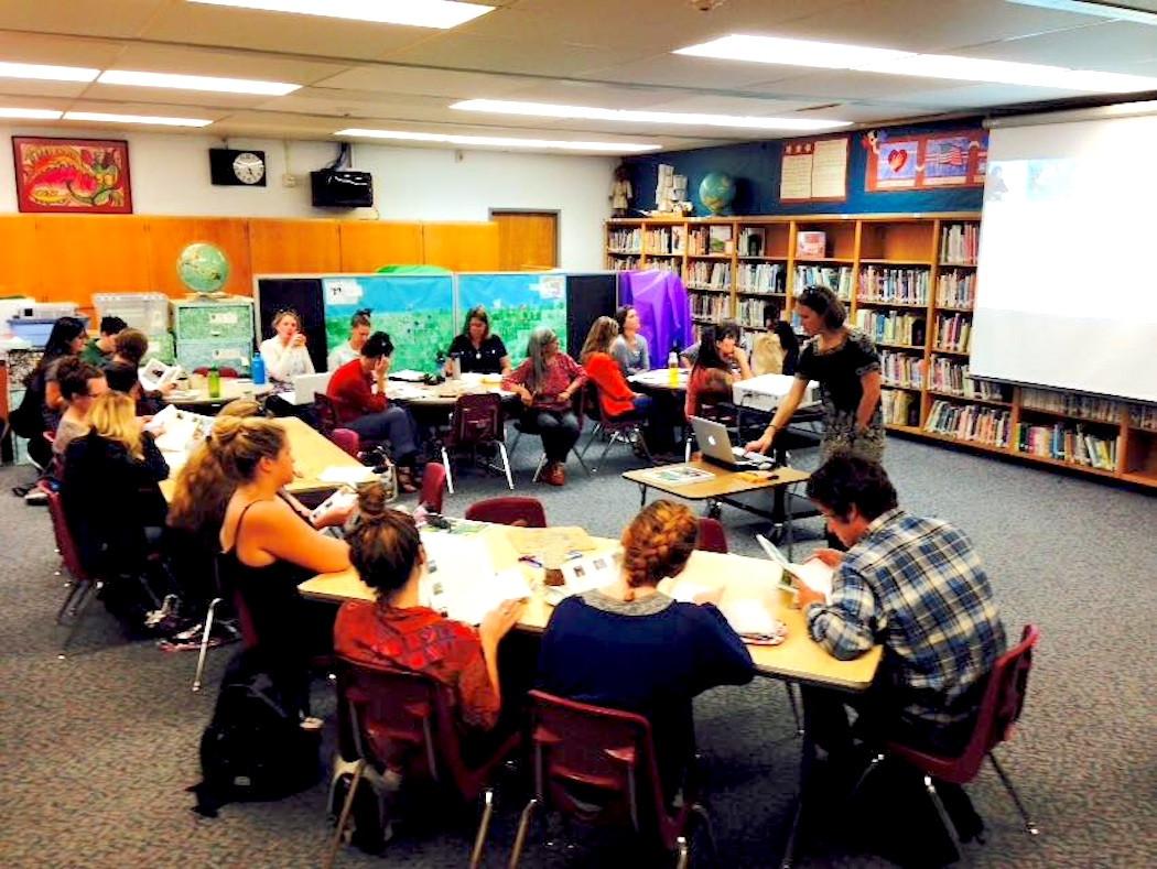 Project Learning Tree workshop host, Dow's Prairie Elementary School, McKinleyville, CA.