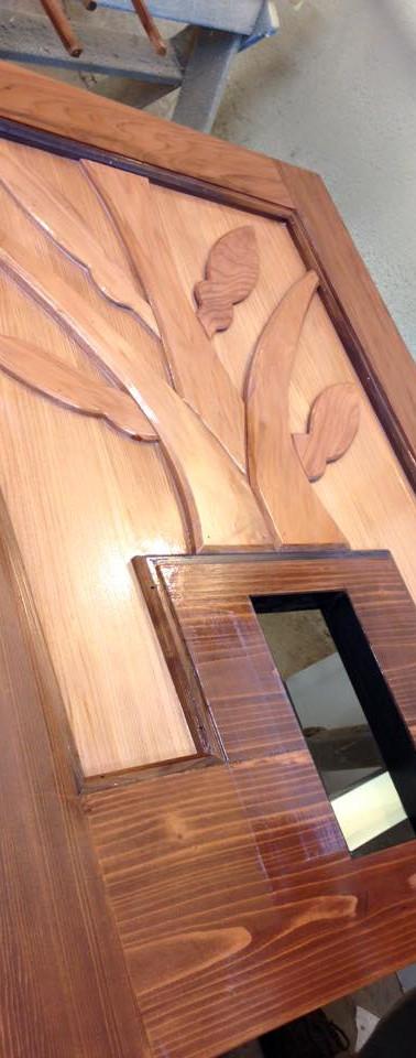 Custom Cat Door Panel for Exterior Door