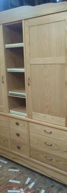 Custom Oak Armoire
