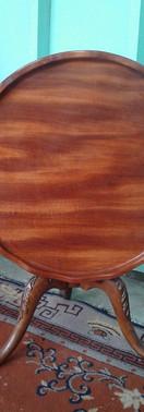 New Tabletop & Restored Antique Base Detail