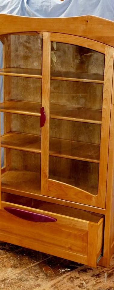 Custom Glass, Alder, and Paduk Dresser