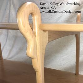 Alder Swan-motif Shelving detail