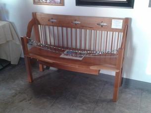 Cherrywood Windsor-style Bench (w/drawer)