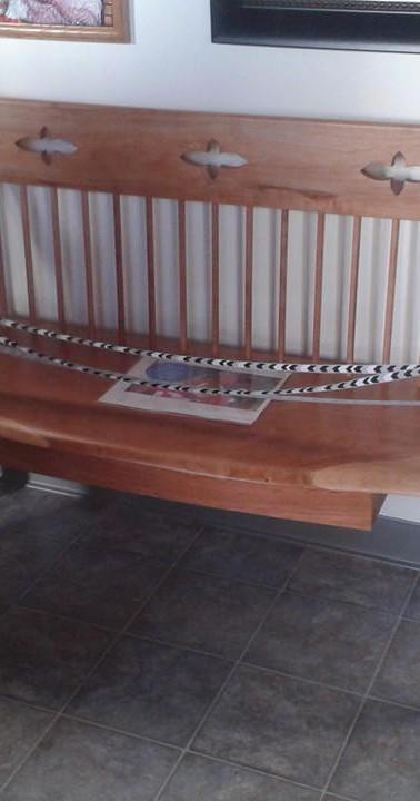 Custom Order Interior/ Exterior Cherry Bench