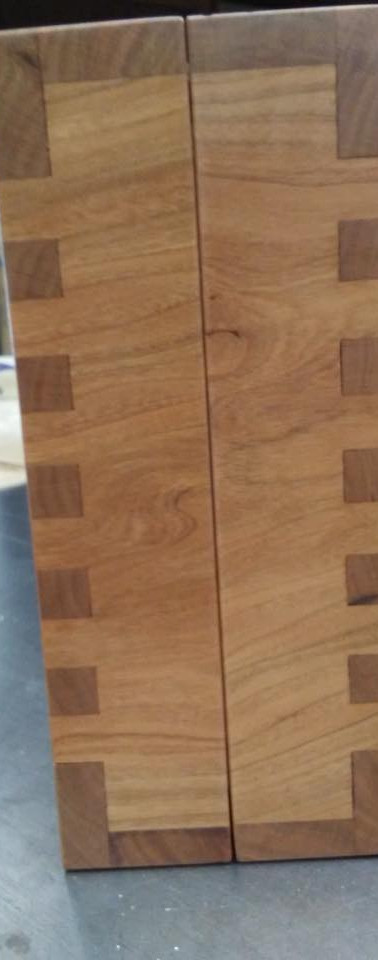 Detail of Walnut and Cherry Wood Case