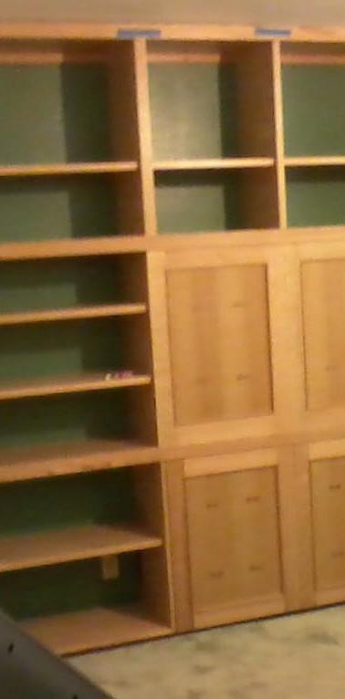 Custom Oak Shelving