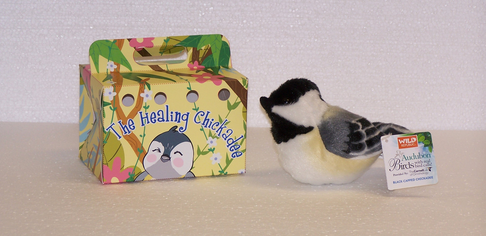 YOUR chickadee will arrive with it's own box, complete with airholes so your bird can breathe!