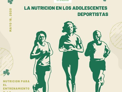 Nutricion para adolescentes deportistas en entrenamiento y competencia.