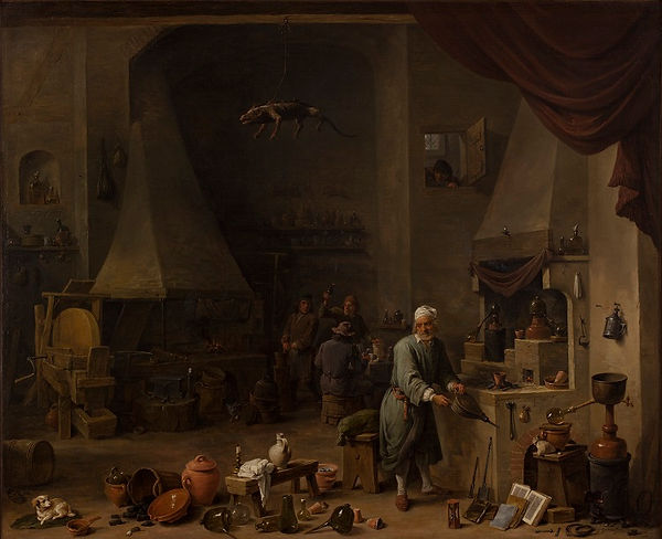 Teniers, Mary Lawrence, alchemy