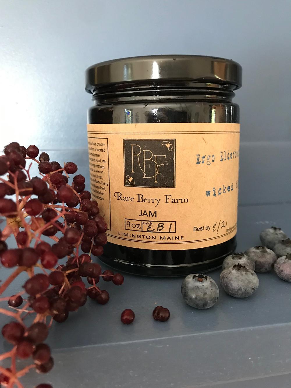 jar of elderberry blueberry offering