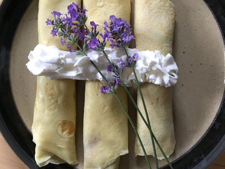 Banana Crepes with Lavender Blue Jam