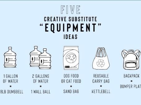 Equipment Substitutions!