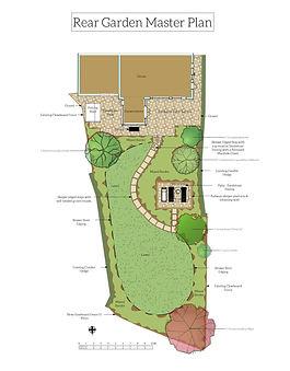 Steeply Sloping Rear Garden Master Plan