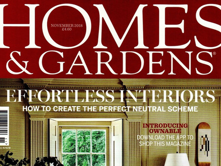 4 Waterworks Cottages featured in November Homes & Gardens Magazine!