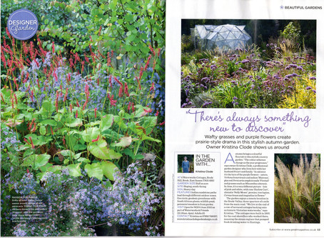 4 Waterworks Cottages featured in November 2019 Garden Answers Magazine!