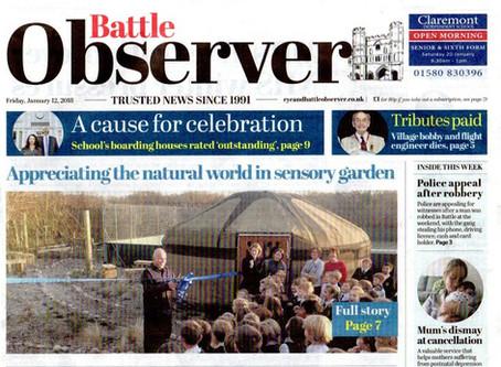 Sedlescombe School Sensory Garden is Front Page News!
