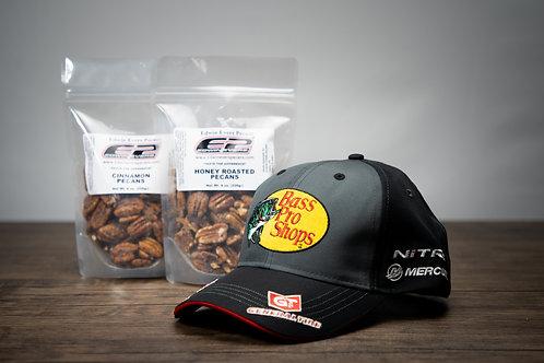E2 Package - Hat & 2 Pecans 8 oz.