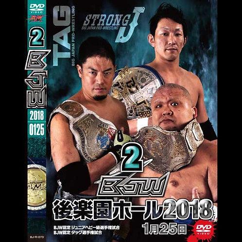 "Big Japan Wrestling Korakuen Hall DVD-R series ""2nd in 2018 January 25""(0.2kg)"