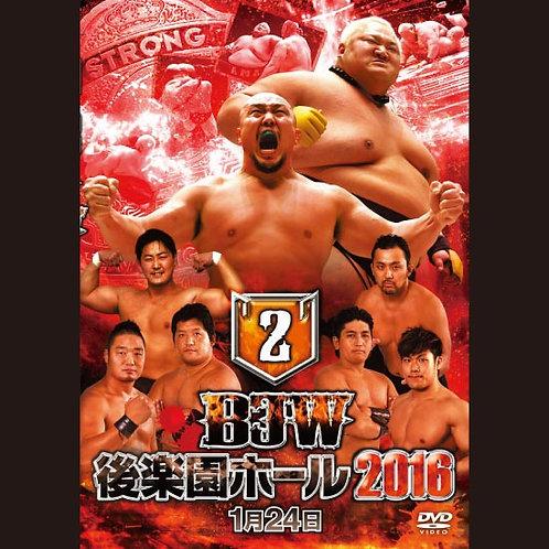 "Big Japan Prowrestling in Korakuen Hall DVD-R ""2th 2016.January 24"" (0.2kg)"