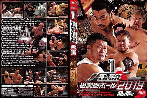 "Big Japan Wrestling Korakuen Hall DVD-R series ""1st in 2019 January 2 ""(0.2kg"
