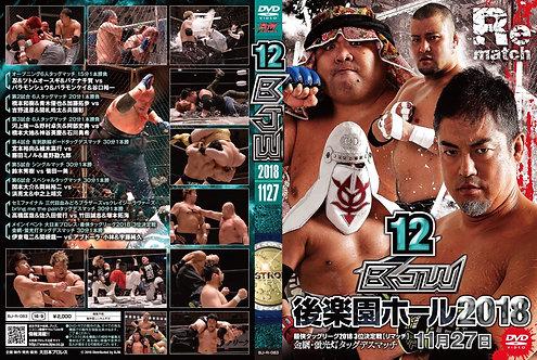"Big Japan Wrestling Korakuen Hall DVD-R series ""12th in 2018 December27 ""(0.2kg)"