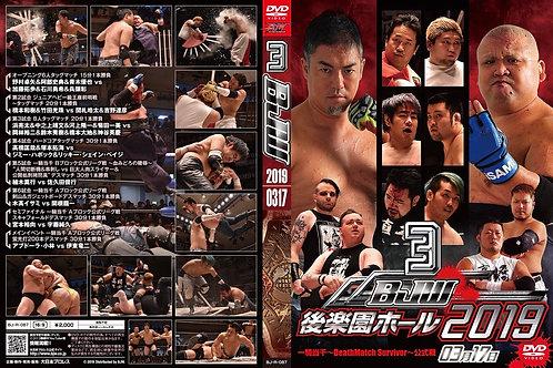 "Big Japan Wrestling Korakuen Hall DVD-R series ""3rd in 2019  March 17 ""(0.2kg"