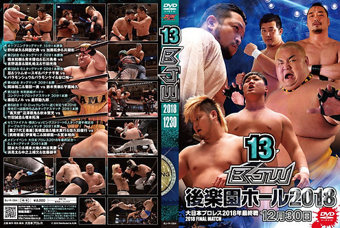 "Big Japan Wrestling Korakuen Hall DVD-R series ""13th in 2018 December30 ""(0.2kg"