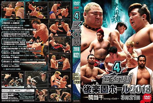 "Big Japan Wrestling Korakuen Hall DVD-R series ""4th in 2018 March 21""(0.2kg)"