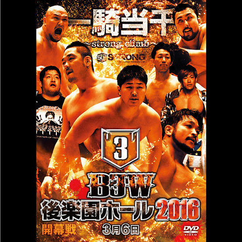 "Big Japan Prowrestling in Korakuen Hall  DVD-R ""3th 2016.March 3"" (0.2kg)"