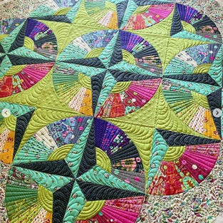 Custom quilting with rulers