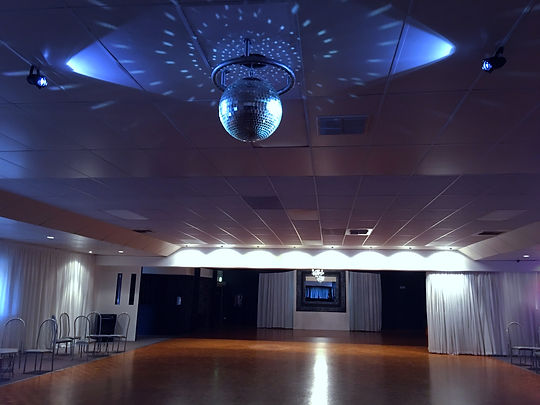 Mirror ball in dance studio