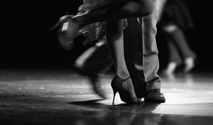 Couple ballroom dancing