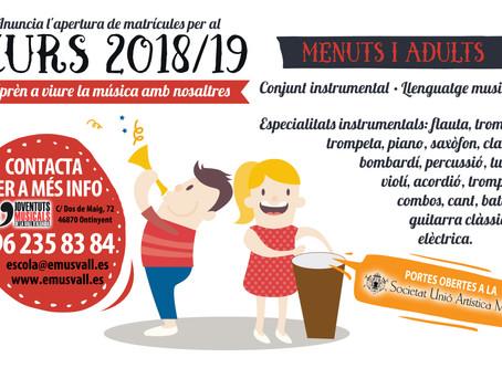 """L'Escola de Música """"Jose Mª Ferrero Pastor"""" d'Ontinyent formarà part de Joventuts"""