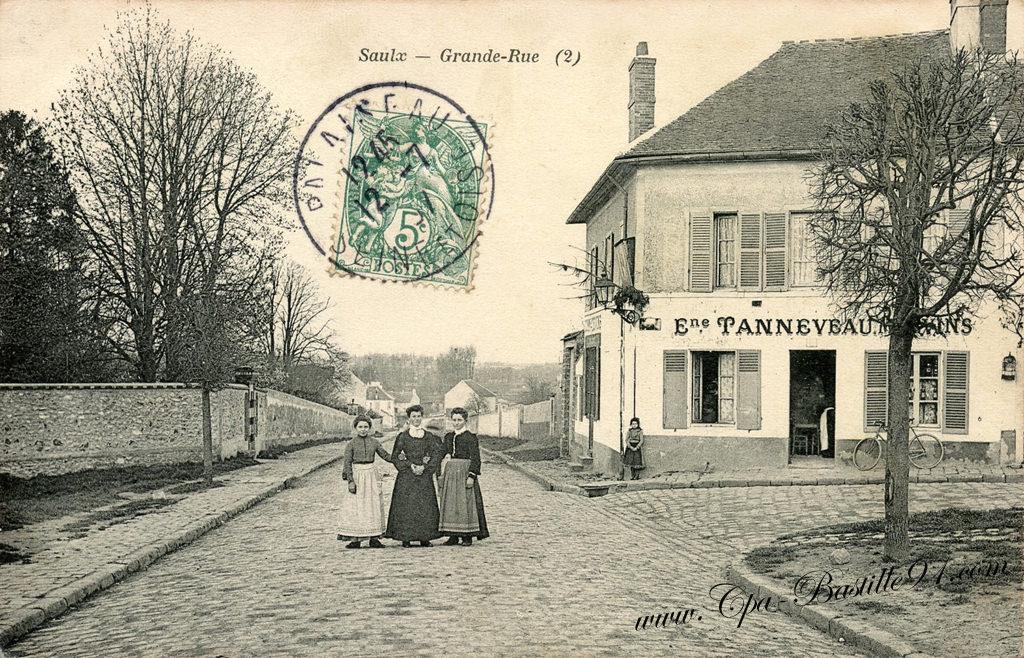 carte-postale-Ancienne-Saulx-Grande-Rue-