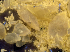 Calcite on Barite, Lockport, Kentucky