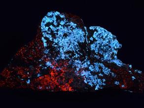 Margarosanite and Calcite from the Jakobsberg Mine, Filipstad, Värmland, Sweden