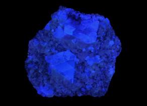 Deep Blue Fluorescent Fluorite, William Wise Mine, Westmoreland, New Hampshire