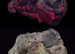 Scapolite, Feldspar and Uraninite; Ontario, Canada