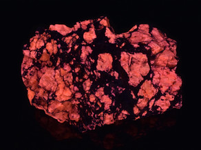 Red Fluorescent Barite, Custer County, Colorado