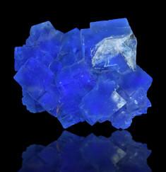 Blue Fluorescent Fluorite Cubes, Minerva No. 1 Mine, Cave-In-Rock, Illinois