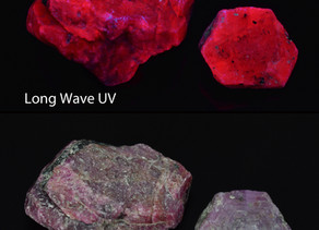 Fluorescent Ruby, Chunky Gal Mountain, Clay County, North Carolina