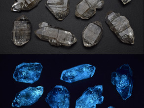 Quartz Crystals with Petroleum Inclusions, from Pakistan