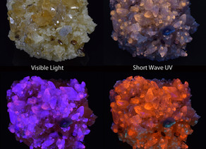 Fluorescent Multi-Wave Calcite from the Elmwood Mine